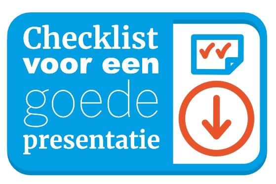 checklist voor een goede presentatie